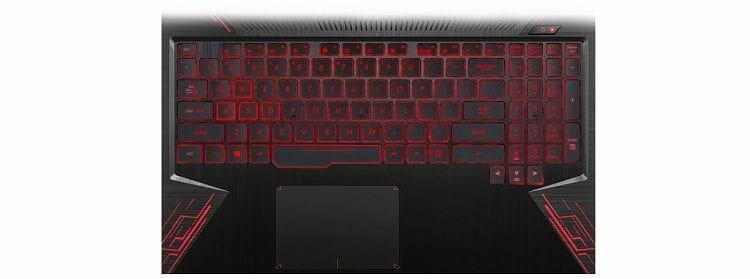 ASUS TUF FX504GE-US52 keyboard