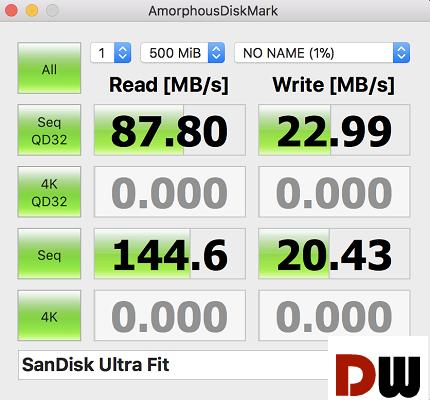 SanDisk 256GB Ultra Fit USB 3.1 Flash Drive performance