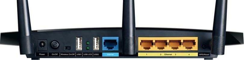 TP-Link Archer A7 Router ports
