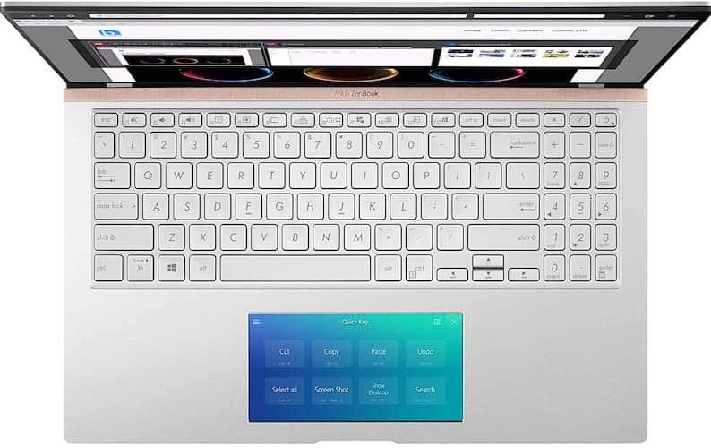 Asus ZenBook 15 (UX534FTC-AS77 keyboard