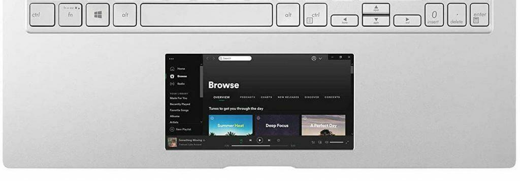 Asus ZenBook 15 (UX534FTC-AS77 screen pad 2